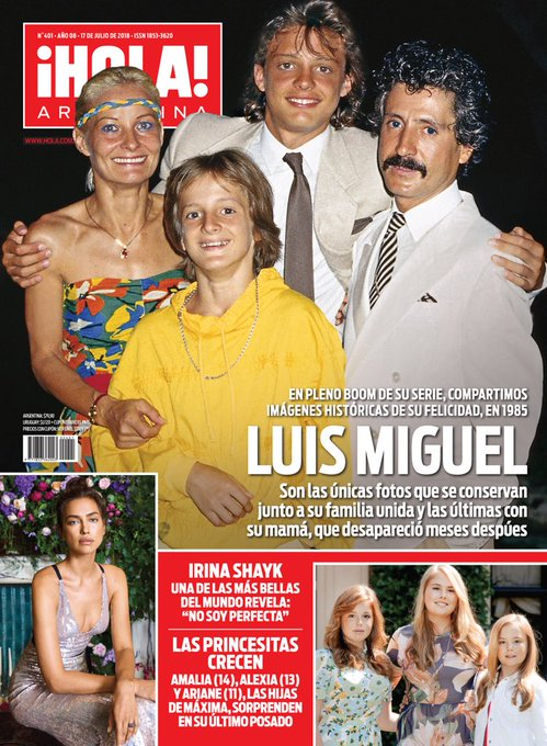 #AdelantoTapaHola Luis Miguel en pleno boom de #LuisMiguelLaSerie imágenes históricas de sus años felices. las únicas fotos que se conservan junto a su familia unida y las últimas junto a su mamá. Foto