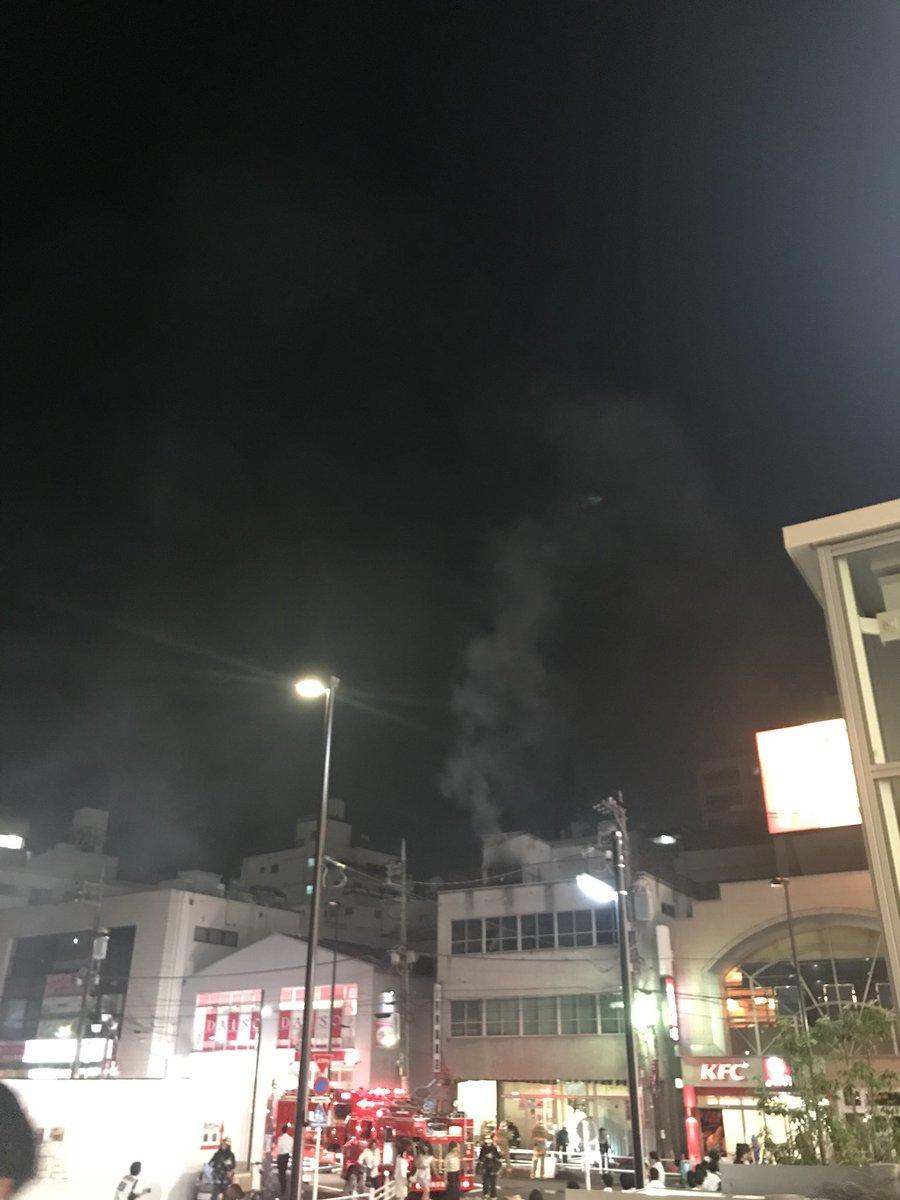 国分寺市で火事の現場の画像