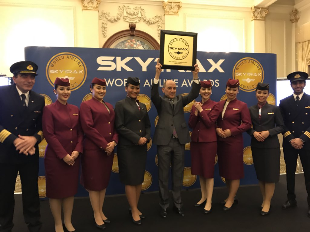 We are proud to be voted the Best Airline in the Middle East!