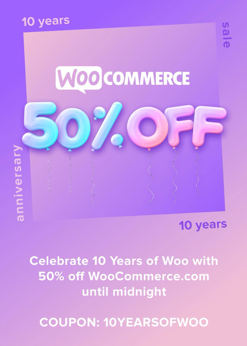test Twitter Media - Dear @WooThemes I think the message is not clean enough, it's not 10 years of @WooCommerce, its 10 years of #WooThemes! I remember talking about #WooCommerce for the first time in @WordCampSF 2011, when it was just been forked from @Jigoshop! Nice deal BTW! 50% off is big deal! https://t.co/hhc4UEGO9n