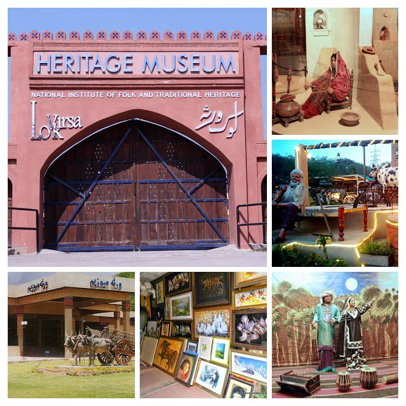 Lok Virsa Museum also known as the National Institute of Folk &amp; Traditional Heritage, is a museum of history, art and culture in Islamabad, Pakistan. The museum consists of several buildings as well as an outdoor museum which can accommodate upto 3000 visitors. #PakistanAtAGlance<br>http://pic.twitter.com/6MJvwCqinq
