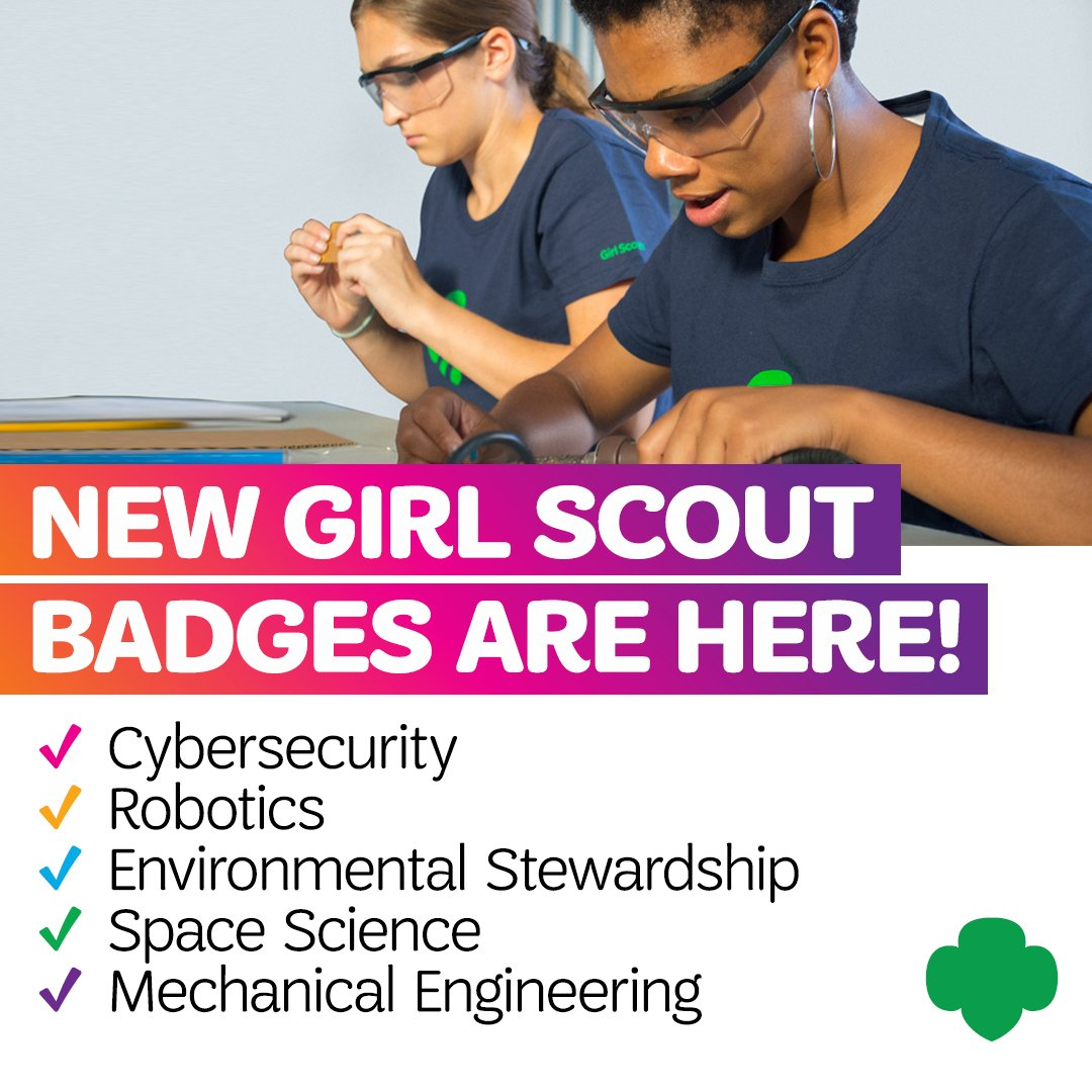 RT @girlscouts You heard it first! 30 NEW Girl Scout badges are now available to power girl leadership, making the BEST leadership experience for girls even better! https://t.co/PcCTN7h6ay