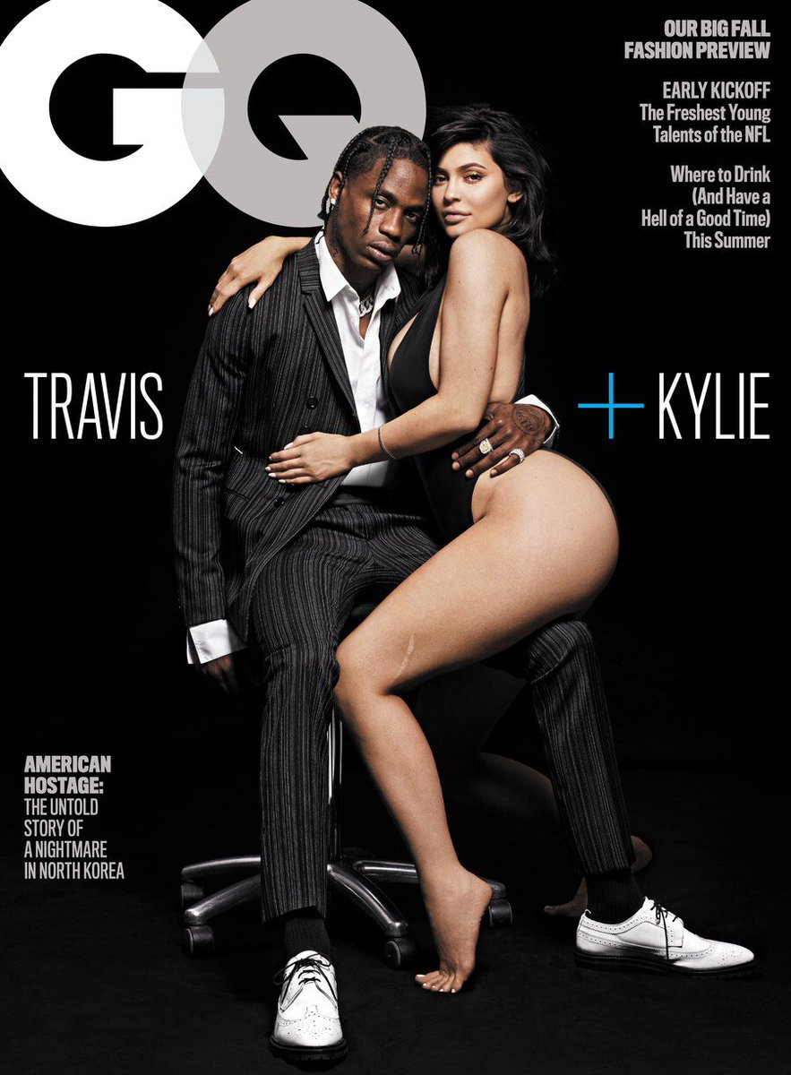 Travis Scott & Kylie Jenner for GQ