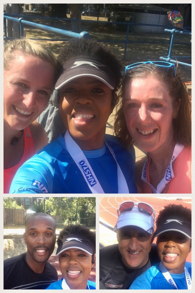 Amazing morning with @Lizzie_Farrant @Clairehump3 @cwilliams400 (I had never spoken to an #Olympian till today), and Andy @AthleteInMind. 7 miles done  Come join in the fun #trackathon #ladywellathleticsarena #NHS70 <br>http://pic.twitter.com/Pdptdd6Vn5