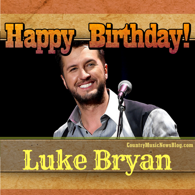 A big HAPPY BIRTHDAY shoutout to Luke Bryan from the crew here at