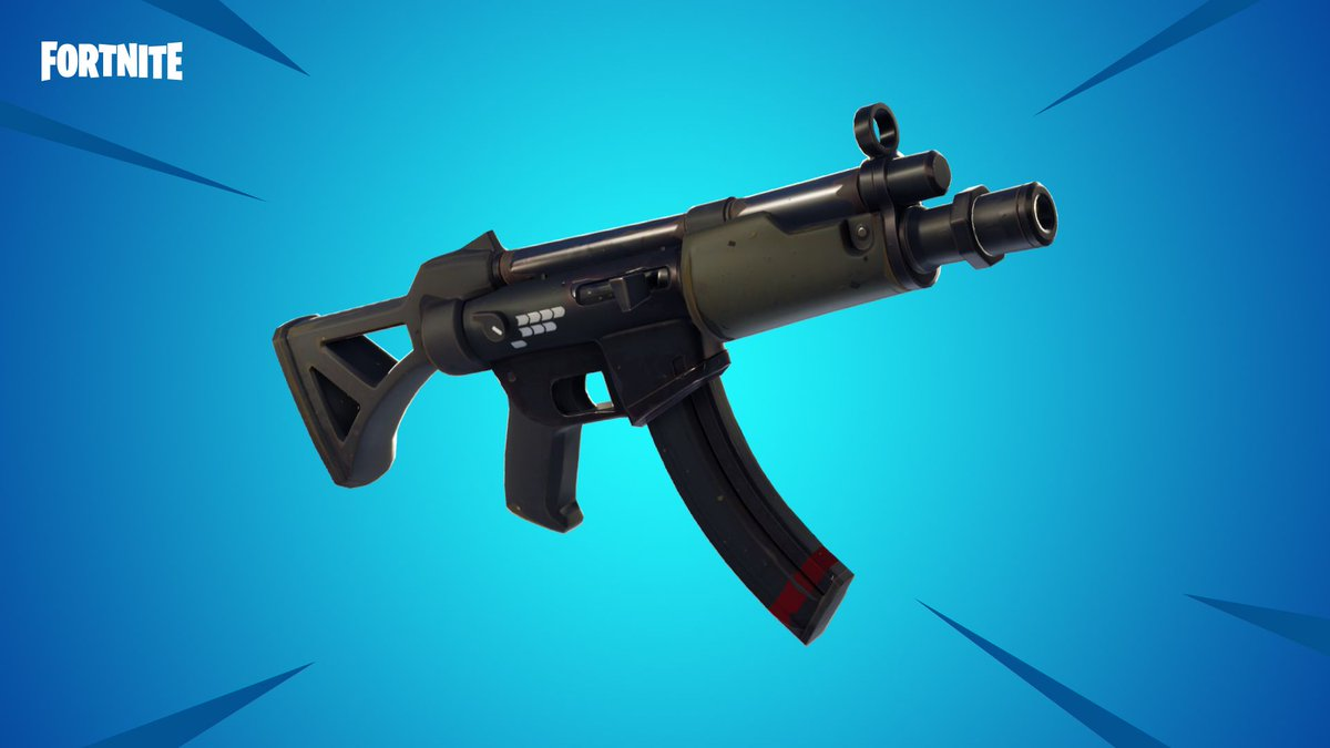 Fortnite gets a new submachine gun in today's content update https://t.co/0LaprFF9Lb