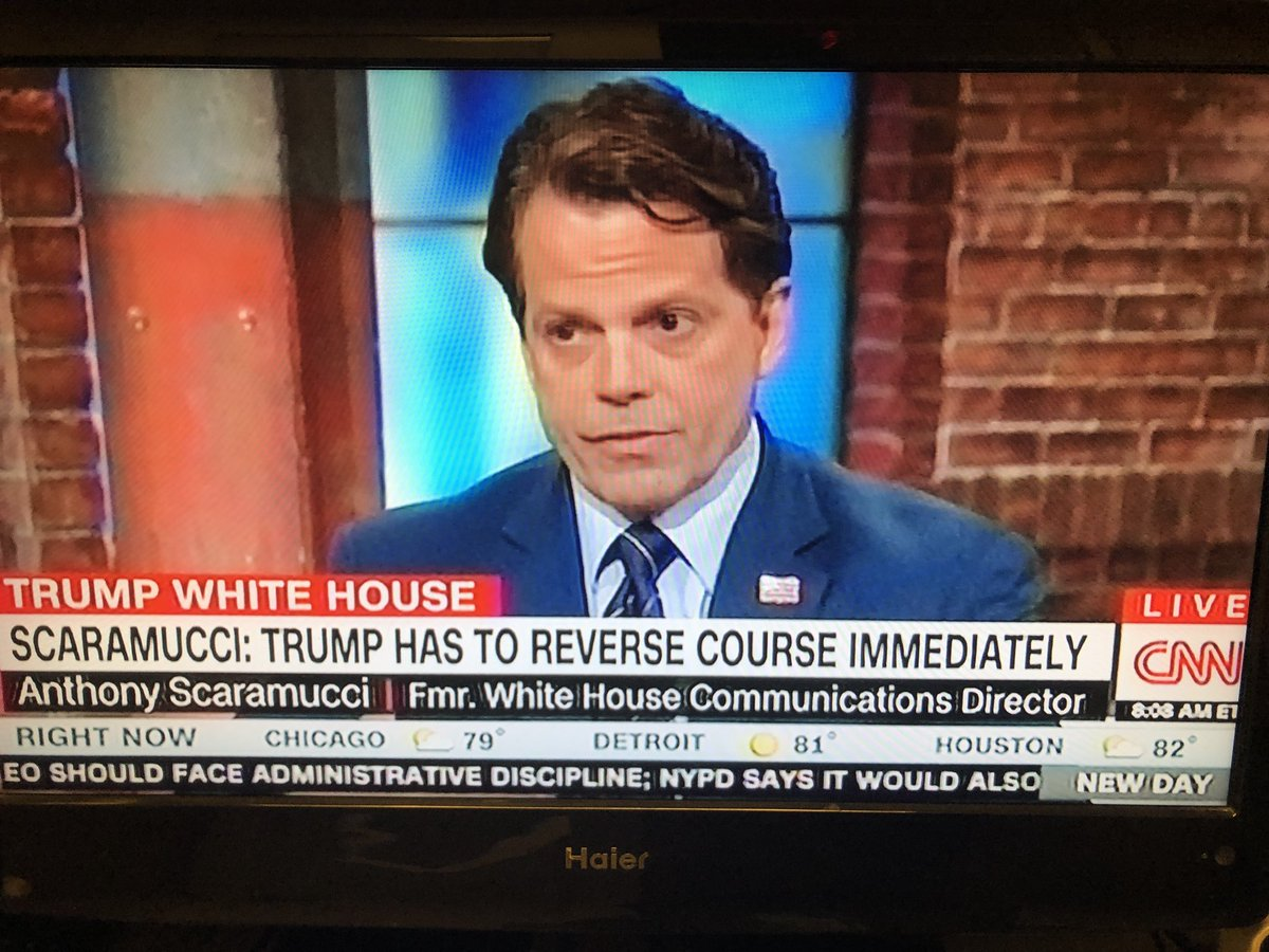 """TOUGH WORDS about Trump's handling of Putin from ex-WH aide Anthony Scaramucci on CNN.  """"This is absolutely wrong. ... He's got to reverse course.""""  Scaramucci said this is an 'emperor's new clothes' situation — and someone has to tell Trump he's not wearing any clothing."""
