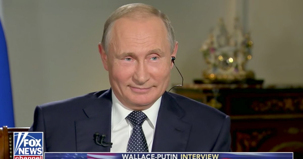 Putin dismisses the Mueller probe as 'political games' in Fox News interview https://t.co/LVNp1rVarN