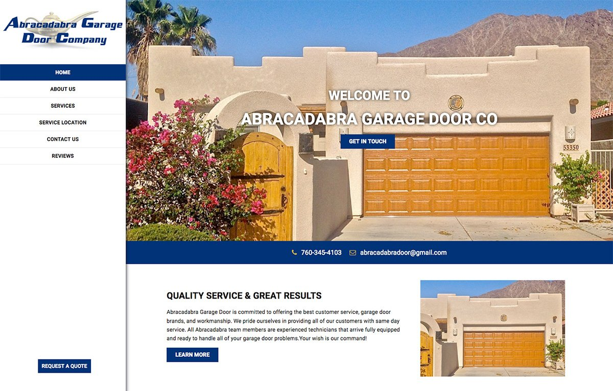 Welcome To Abracadabra Garage Door, The Leading Garage Door Service Company  In The Palm Springs, California Area   Ready To Handle Any Of Your Garage  Needs. ...