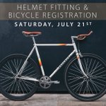 Image for the Tweet beginning: We'll be registering bikes and