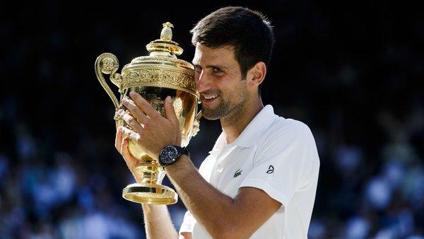 #BackInTheGame  Djokovic est bel et bien de retour ! Il a remporté son premier titre majeur depuis 2016 face à Kevin Anderson à Wimbledon en 3 sets   - FestivalFocus