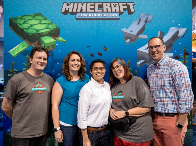 Thank you for a motivating conversation #MSFTEduChat. Connect with a Global Minecraft Mentor to learn more about how to get started with #MinecraftEdu in your classroom, and hear more inspiring stories. Join our community! Photo