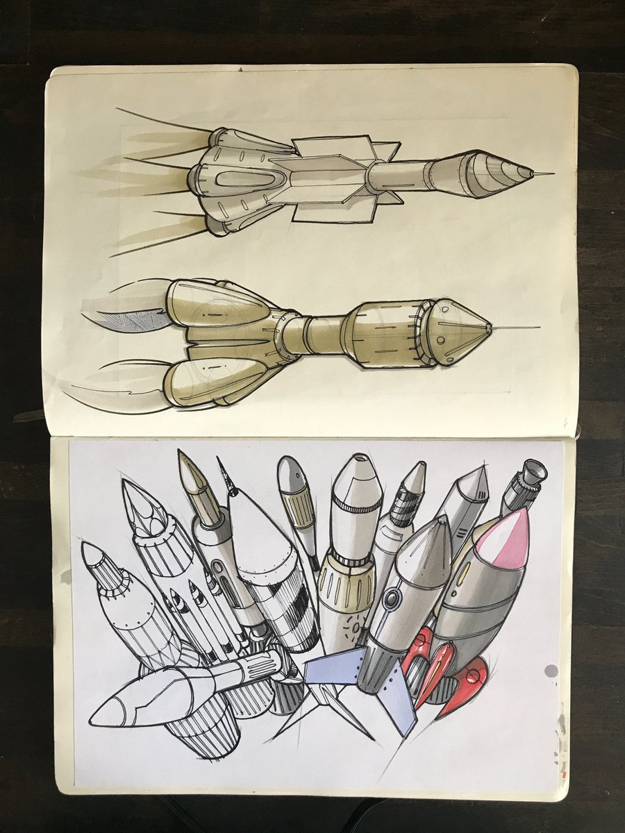 Drawing Ideas On Twitter Cylindrical Forms A Bouquet Of Rockets