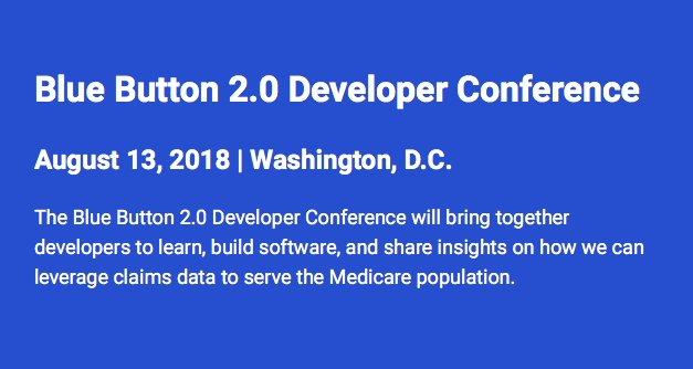 #BlueButton 2.0 Developer Conference will bring together app developers in the tech community to help build & develop new tools to help patients understand their health data and make informed healthcare decisions  https://t.co/QlxhUOhjab#BB2DC18