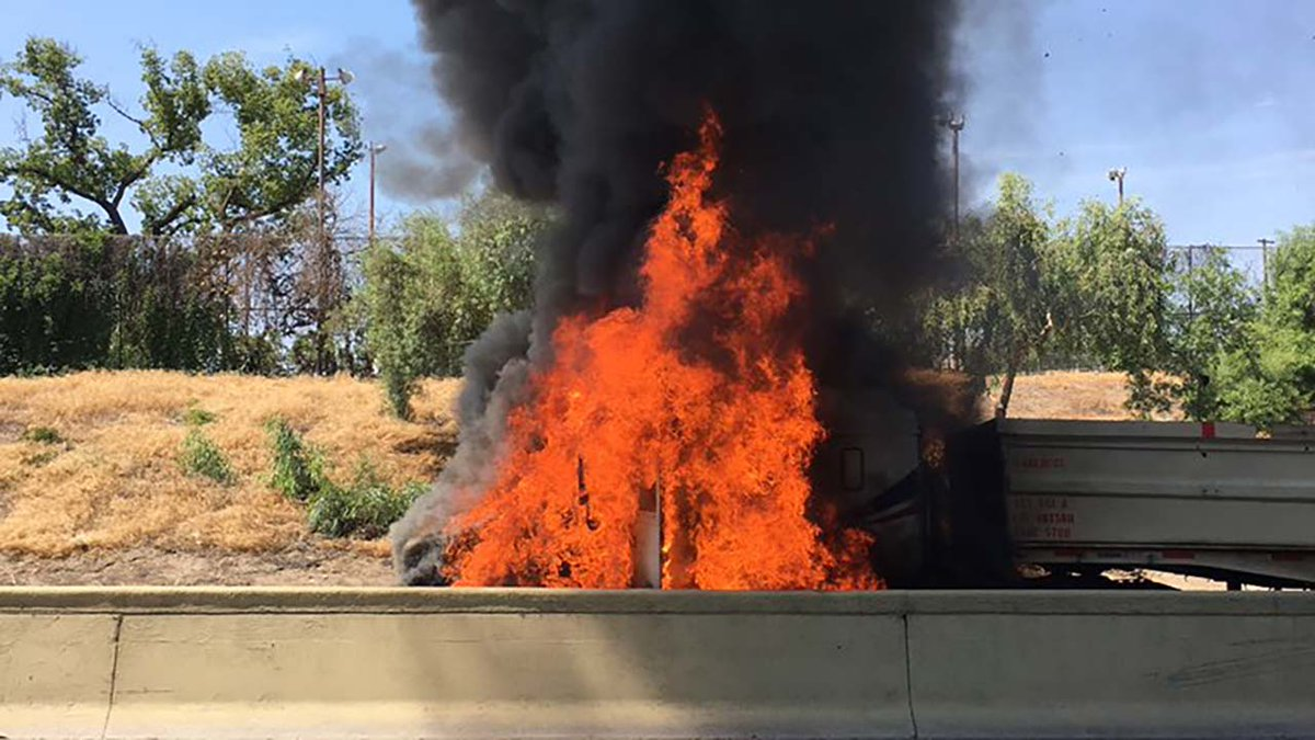 Fire On Highway 99 Today
