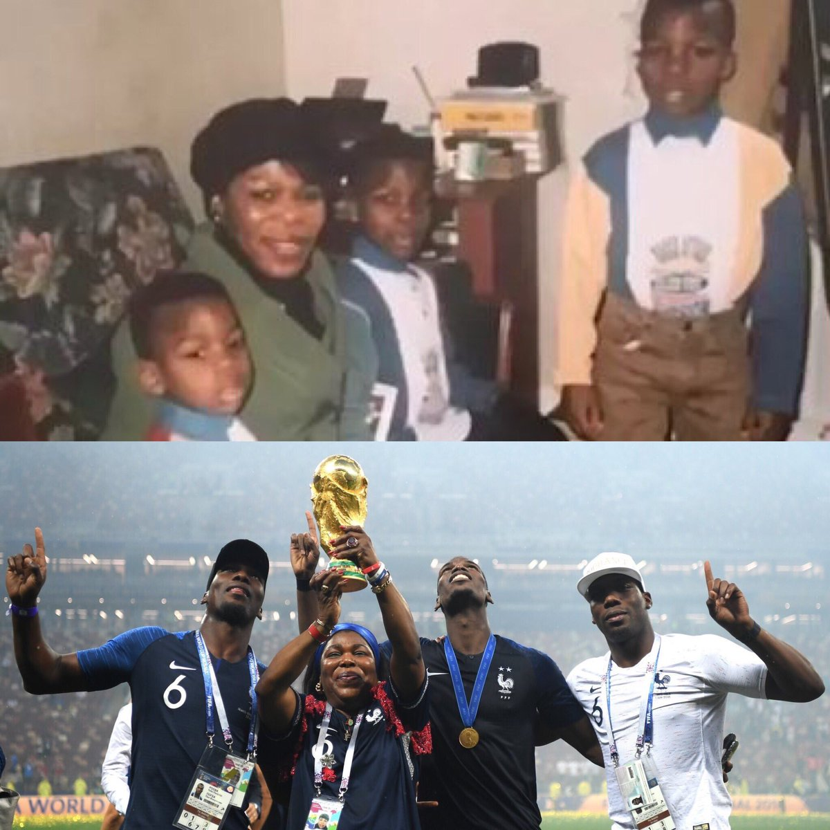 Paul Pogba His Mother And Brothers Then And Now
