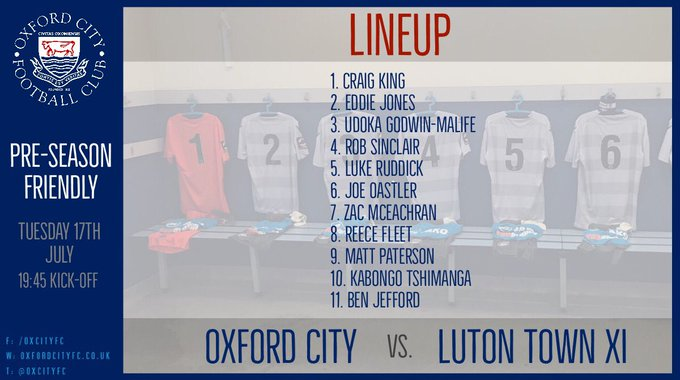LINEUP | One change to City's starting XI from the match against Oxford United as Reece Fleet replaces Josh Ashby. Photo