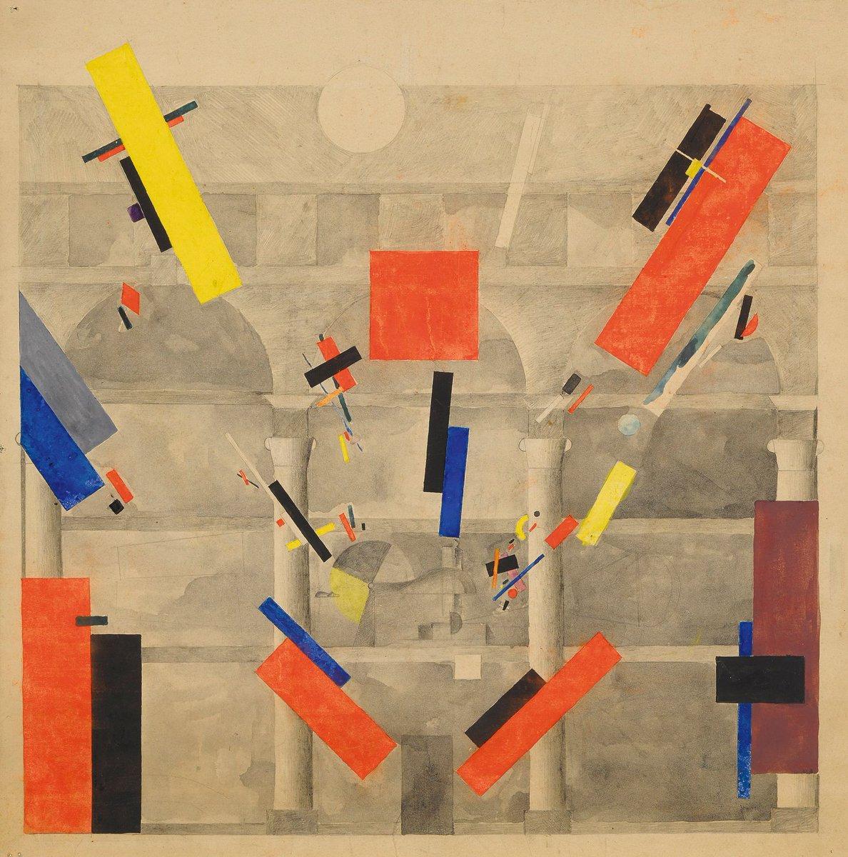 """""""Suprematist Desing For a Facade"""" -Vera Mikhailovna Ermolaeva (1920)"""