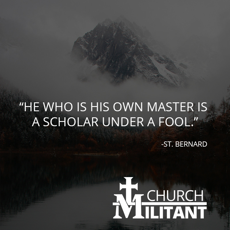 Catholic quote of the day by -St. Bernard. <br>http://pic.twitter.com/J1HEhhasl4