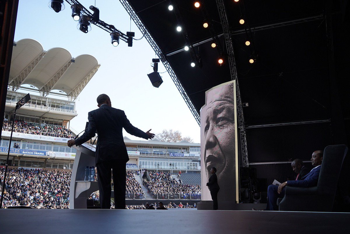 The Obama Foundation's photo on #MandelaLecture
