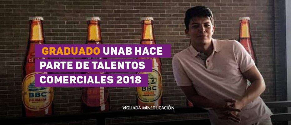 Graduado UNAB hace parte de Talentos Comerciales 2018
