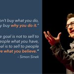 Image for the Tweet beginning: People don't buy what you