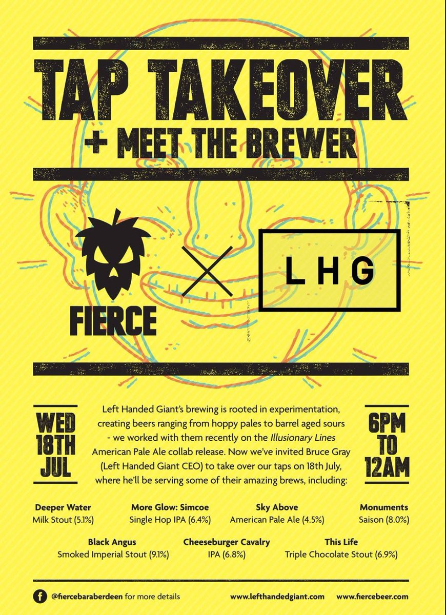 Image for Wednesday @FierceBarABZ is going to be epic.... @LHGBrewingco takeover.... https://t.co/TzSq9d9Wsq