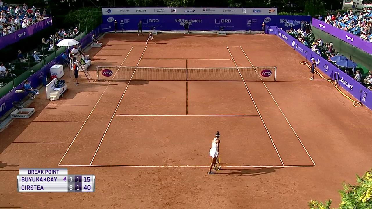 Superb rally finished by @CaglaBuyukakcay! #BucharestOpen https://t.co/1f7uii65fP