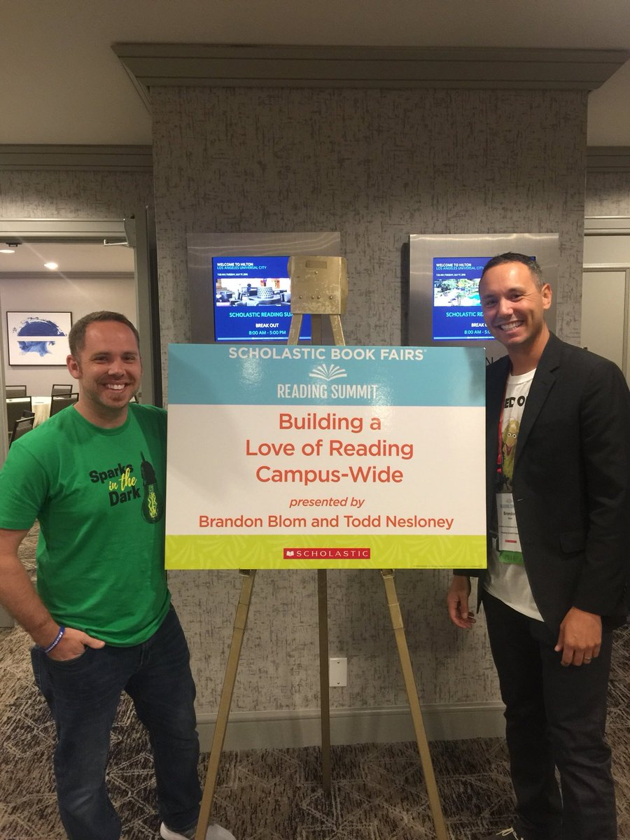 Super pumped to present with @brandonkblom today at the @Scholastic #ReadingSummit <br>http://pic.twitter.com/Y38GNYnfwl