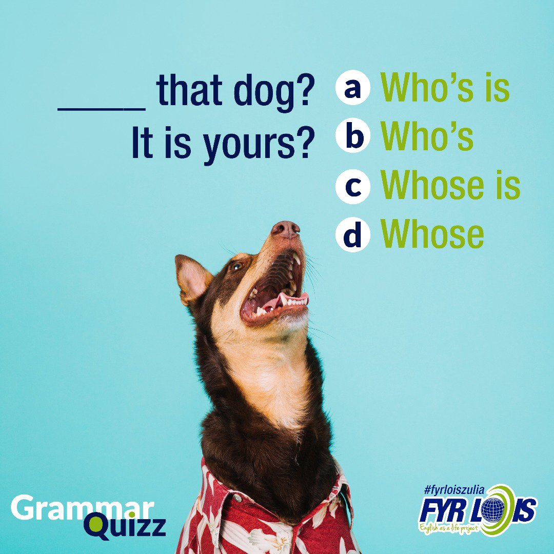 What&#39;s the right answer?   #quizz #english #aprendeingles #ciudadojeda #zulia <br>http://pic.twitter.com/2sirWufN7N