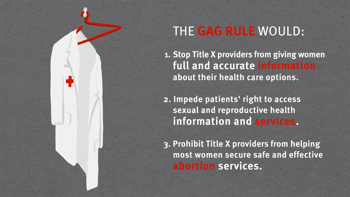 Don't stay silent. Submit your comment now! Say NO to Trump muzzling doctors. #NoGagRule https://t.co/bnXrPkwaqN
