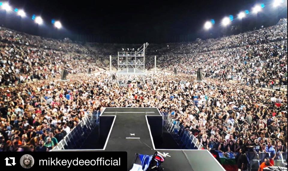 #Repost via @TheMikkeyDee: &quot;Not a bad sight from my drums last night in Athens old Olympic Stadium. What a super night. Thanx Athens hope to see you soon again.&quot; <br>http://pic.twitter.com/rrzLjbFsPX