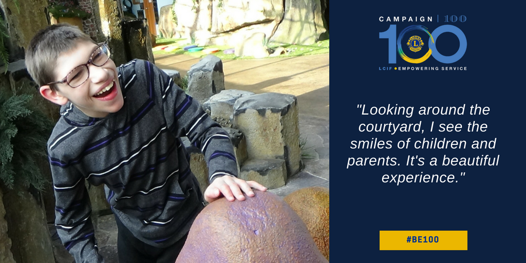 test Twitter Media - Sensory Courtyard is a sanctuary for children with a multitude of special needs who might otherwise not be able to explore their world safely and comfortably. Find out why Zachariah's smile is so big! 😁 #BE100 https://t.co/nBI3SAQB6Y https://t.co/FnXsKkteOS