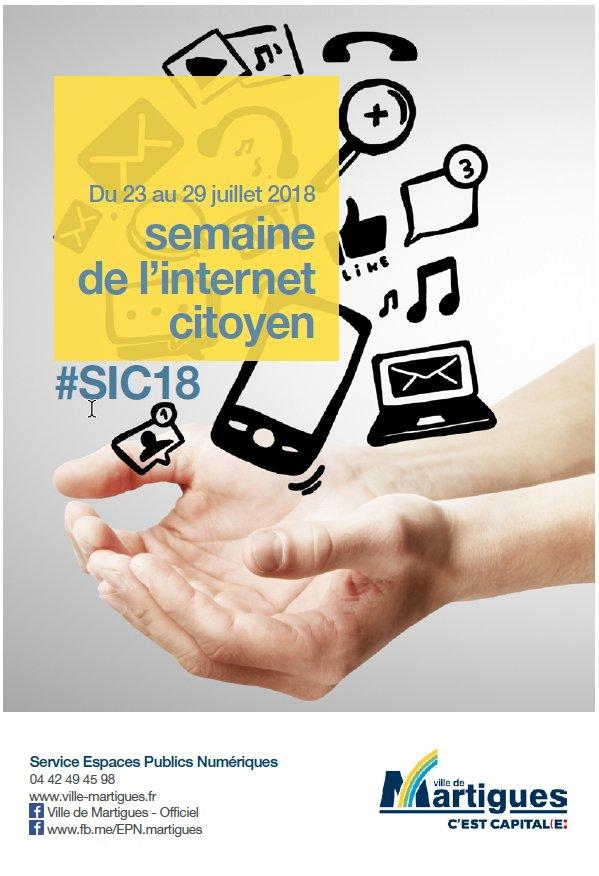#SIC18 #Martigues #EPN #MedNum  #CollTerr Pour un internet porteur de sens, avec des ateliers ludiques du 23 au 29 juillet sur Martigues.@_vincentlaroche  @delahaye_s  - FestivalFocus