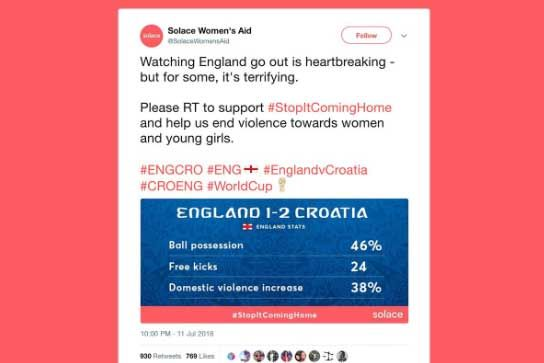 Why Solace Women's Aid got #StopItComingHome trending in the World Cup https://t.co/GqmDxRNVLH