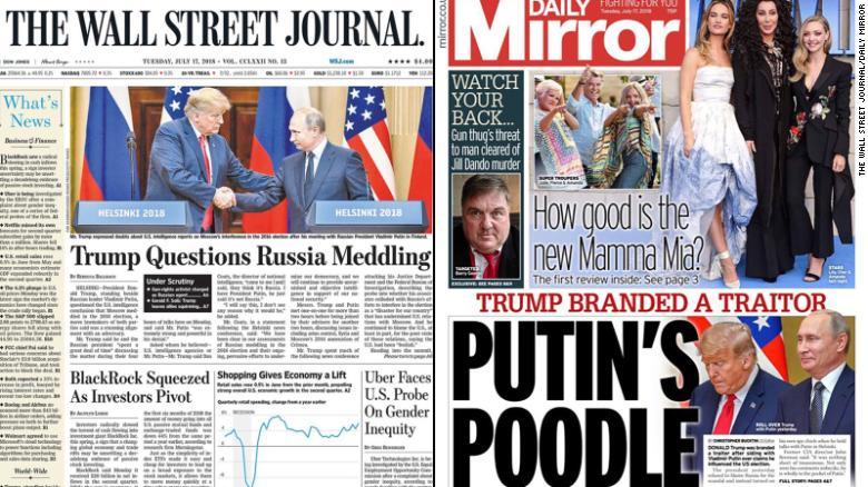 'Putin's poodle:' Newspapers around the world react to Trump-Putin meeting cnn.it/2zOWN1s