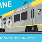 Image for the Tweet beginning: The Santa Monica Station at