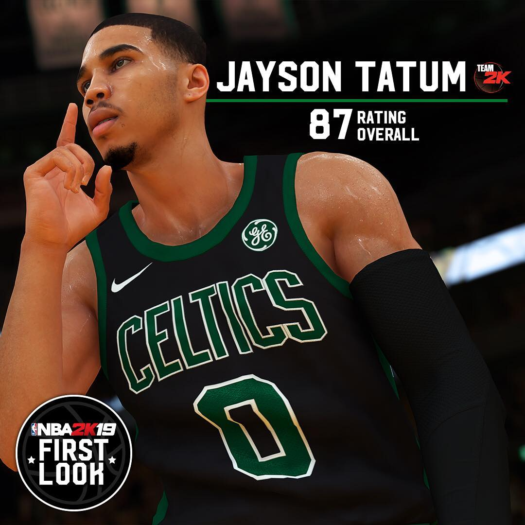 Jayson Tatum's #NBA2K19 rating is 87! Too high, too low or way too ******* low?