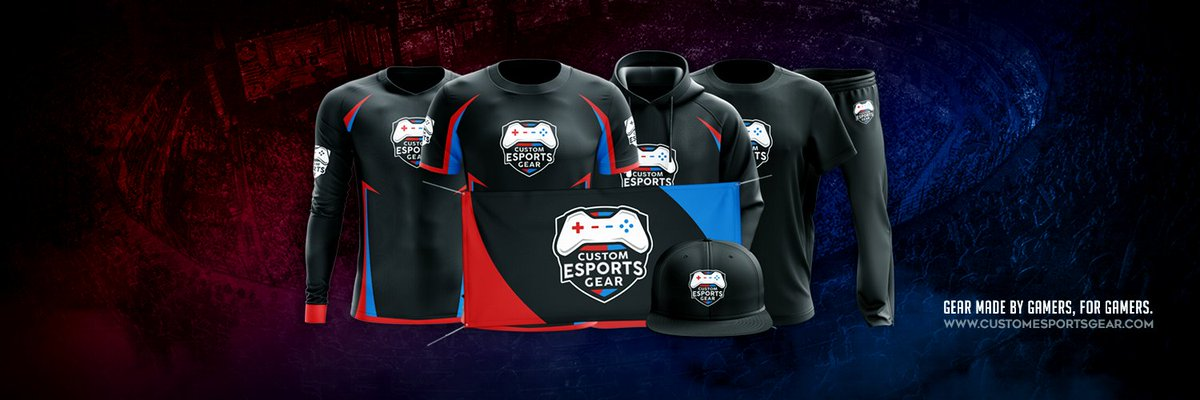 2551c7dc9 Stand out with a full apparel line from Custom Esports Gear. We even do  Logos