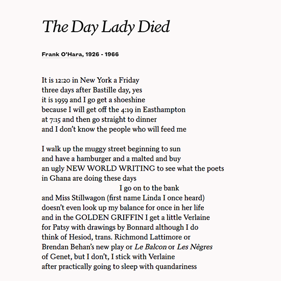 the day lady died