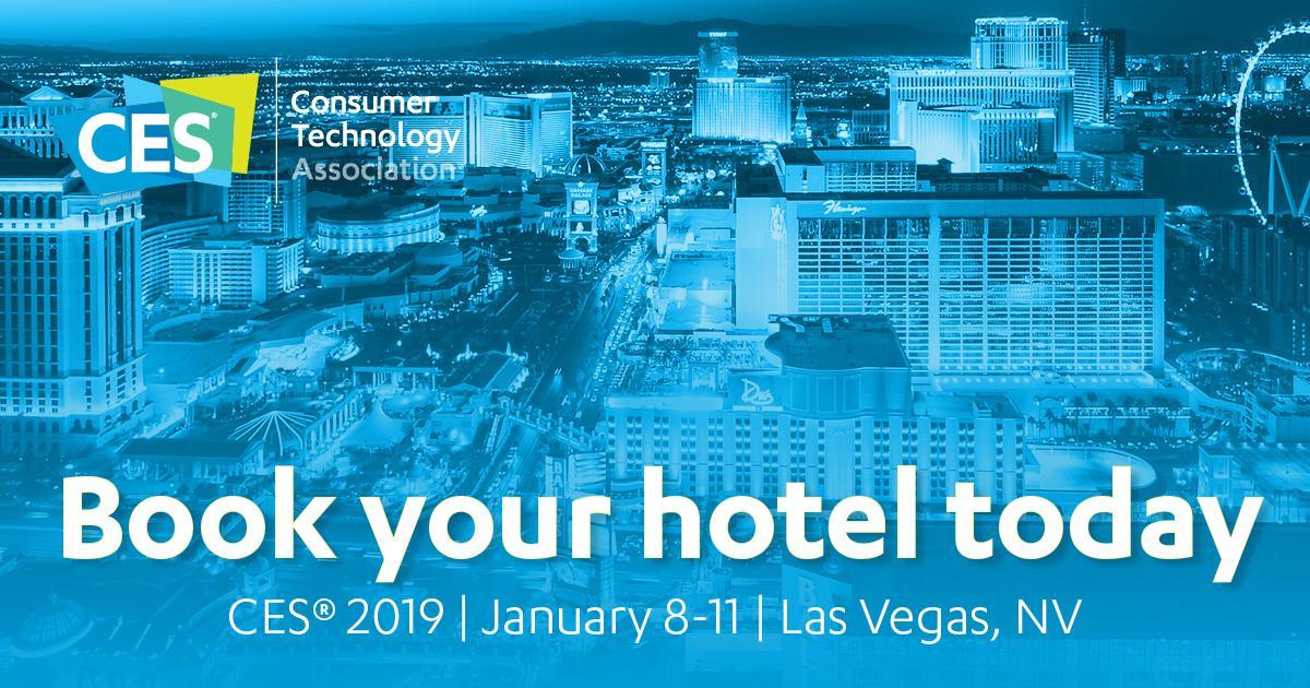 Book your hotel for #CES2019! https://t.co/oNADChOKBU