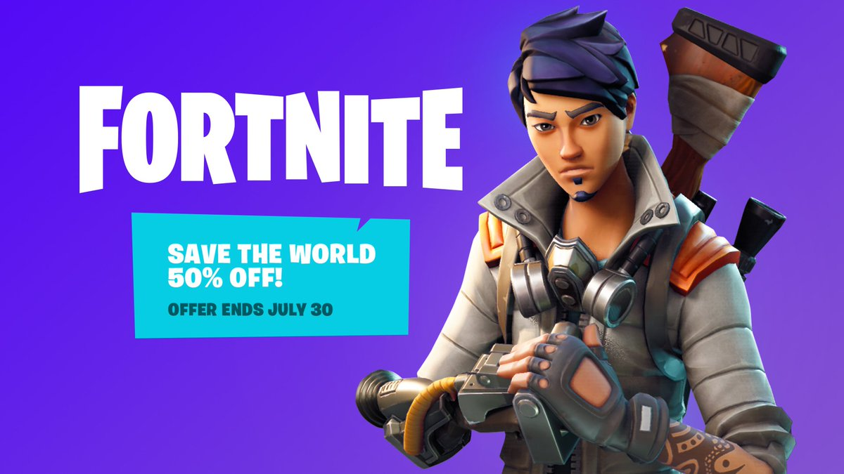 Account Level Fortnite Save The World Fortnite On Twitter Save The World Founder S Packs Are 50 Off Until July 30 Level Up With Your Friends And Lead The World S Remaining Heroes In The Fight To Save Humanity And