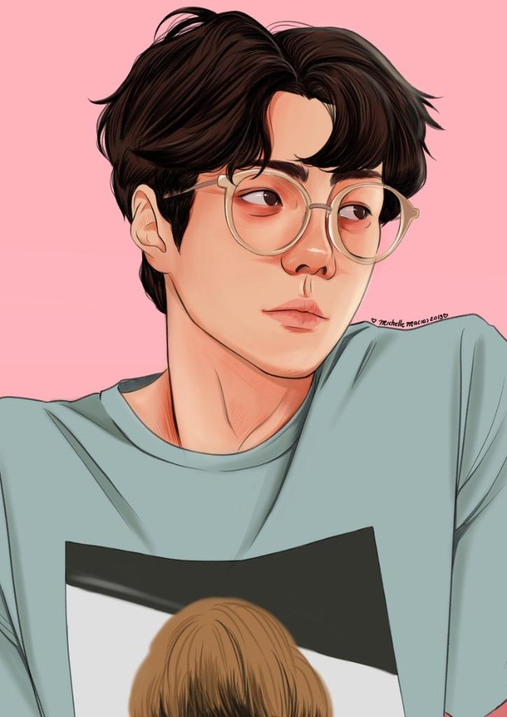 He is the lucky one. https://t.co/JzN2yZ0ZI3 (by lumpalindaillustrations) #EXO