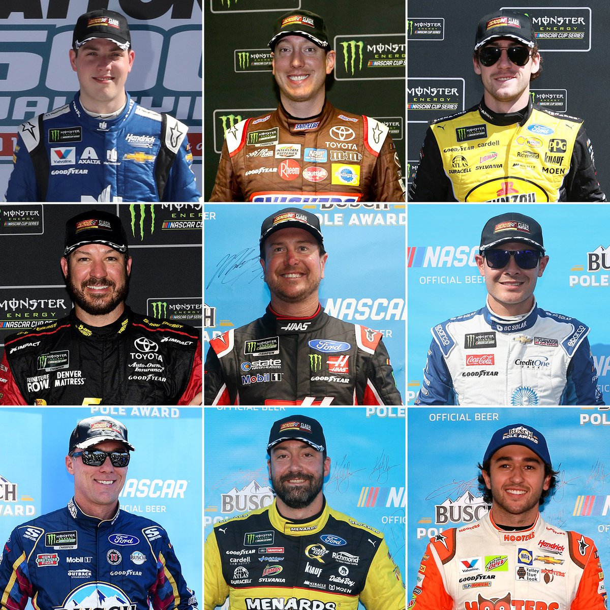 So far this @NASCAR season, 9 drivers have officially qualified for the 2019 #AdvanceAutoClash with pole wins! #AdvanceOnTrack