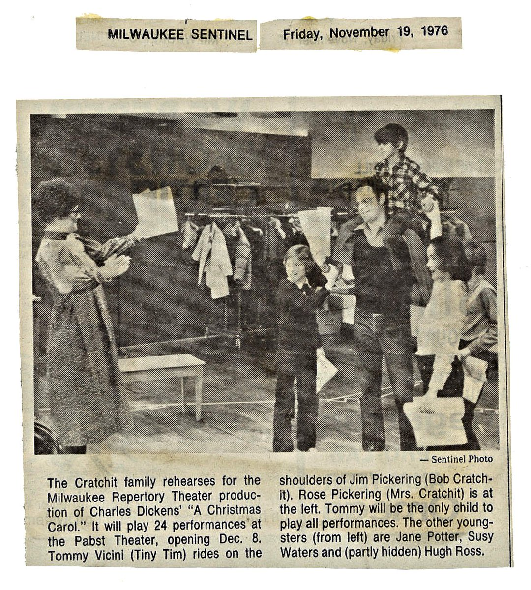 """Milwaukee Rep produced its first production of """"A Christmas Carol"""" in 1976 in the Historic Pabst Theater and it's lived on for 43 years since!"""