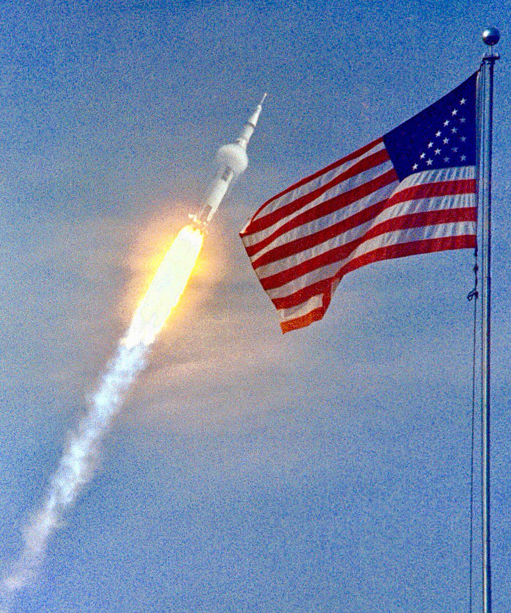 Launch of Apollo 11 moon shot from what was then called Cape Kennedy, yesterday 1969:  #NASA