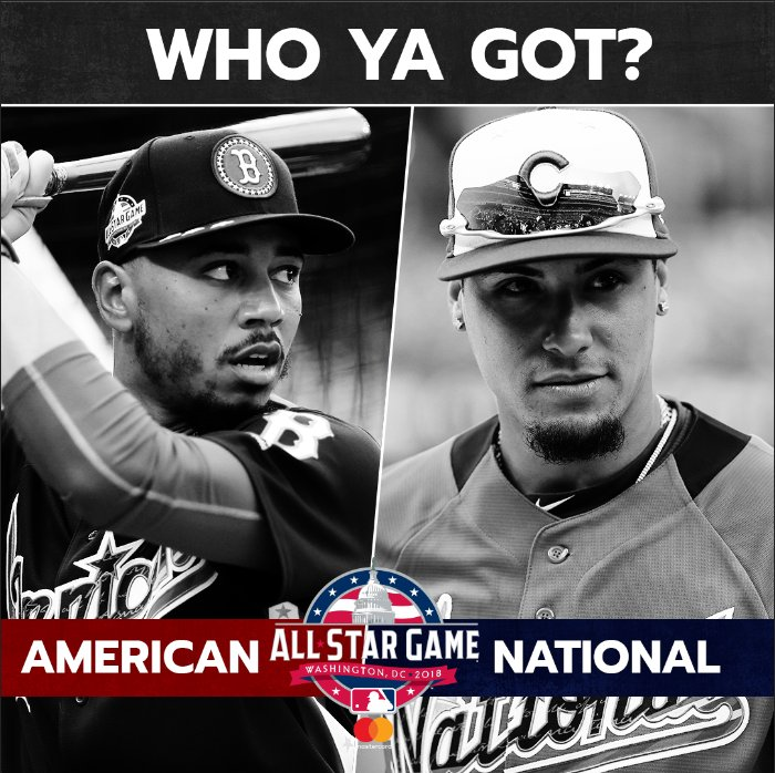 T-minus 1 hour til the MLB #AllStarGame presented by @Mastercard and we have just one question for you: