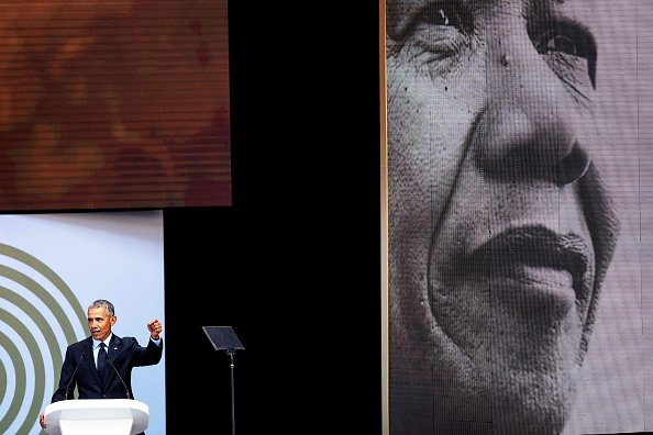 "Obama warned against the ""undoing of democracy from strongman politics"" in a speech to mark Nelson Mandela's 100th birthday in Johannesburg #tictocnews   👉 Watch the full speech: https://t.co/k0DQUSq5pM"