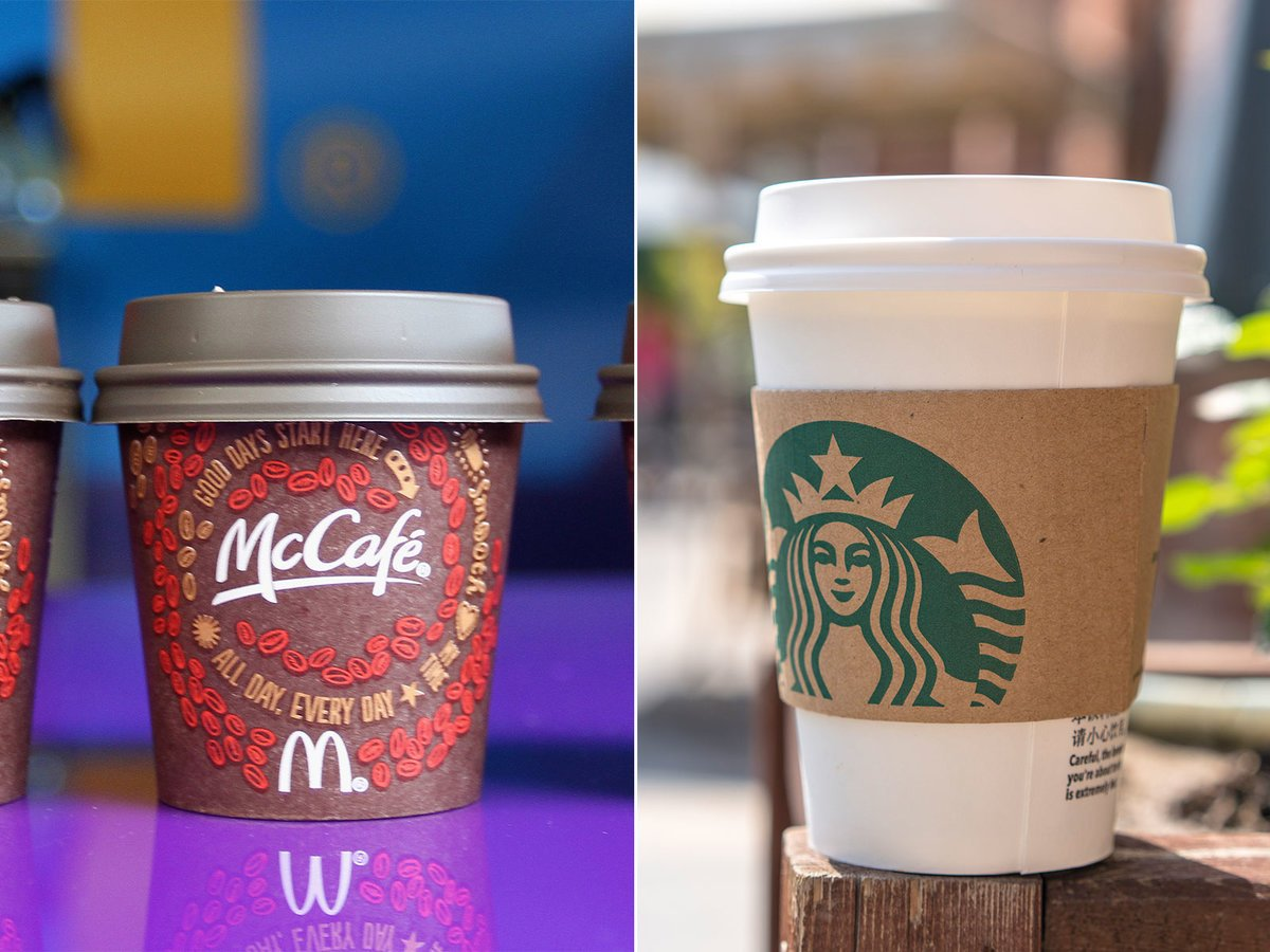 Starbucks and McDonald's are designing a compostable cup together: https://t.co/me9pdEjk3j