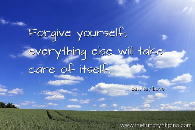 Forgive yourself, everything else will take care of itself. - #Eat #Pray #Love #quote #stories #quoteoftheday https://t.co/obFEF7ZU3M